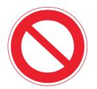 規制標識の画像