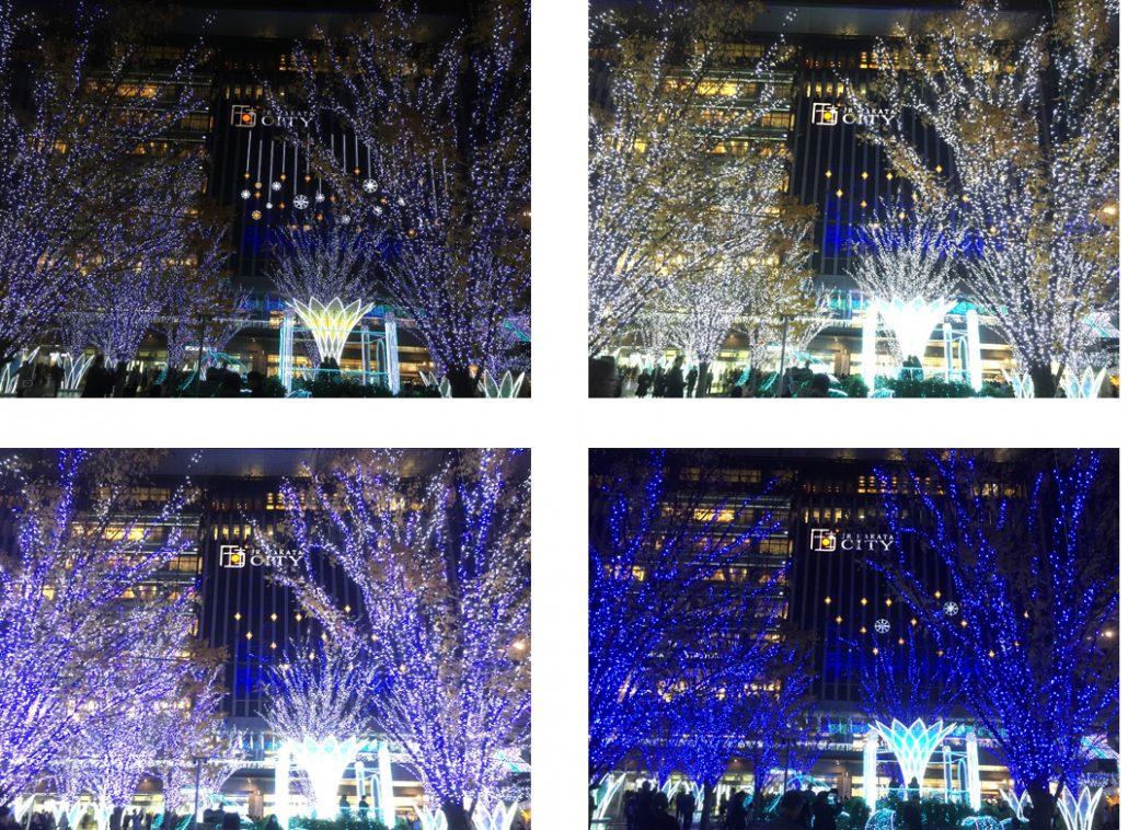 博多駅四枚写真イルミ