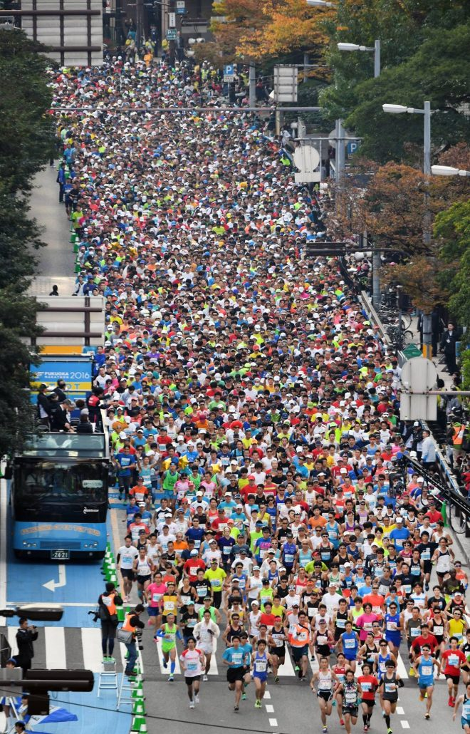 マラソン上空からの画像