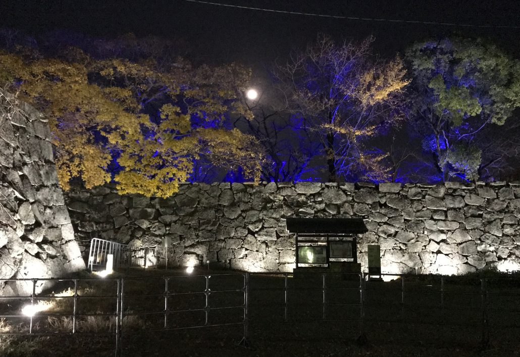 出口付近石垣の画像