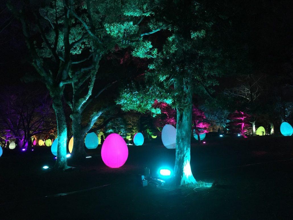 城跡の光の祭り