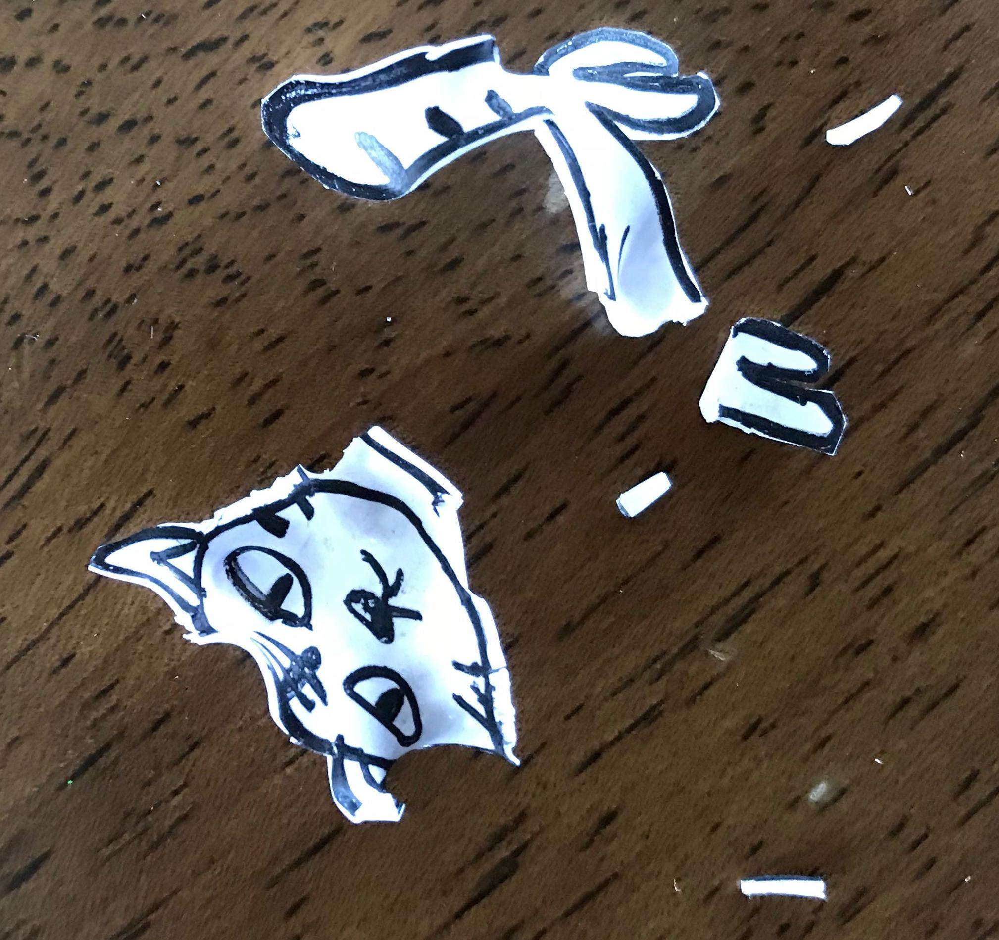 プラバン猫の画像