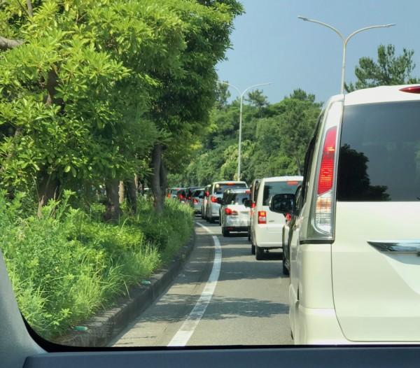 マリンワールド渋滞