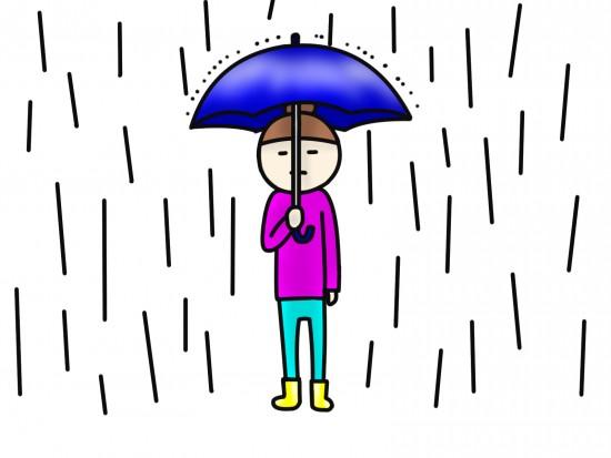 大雨イラスト