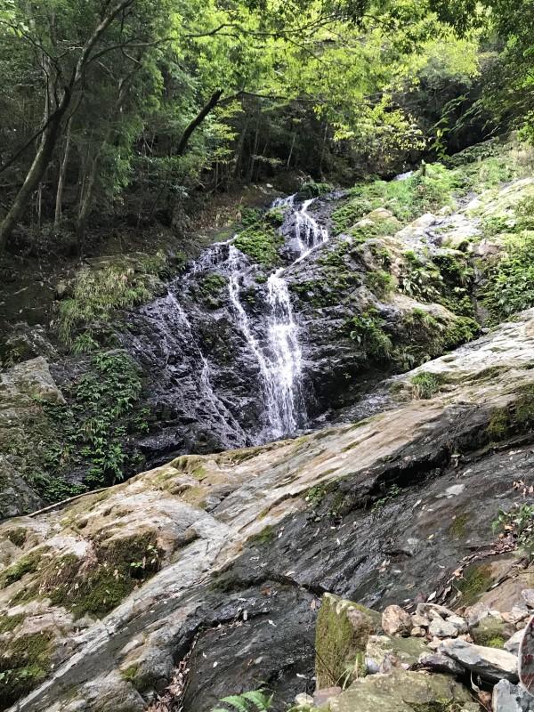七重の滝への道のり